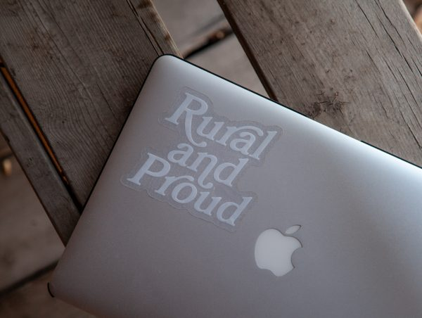 rural and proud sticker