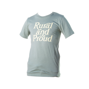 Rural and Proud Heather Green t-shirt