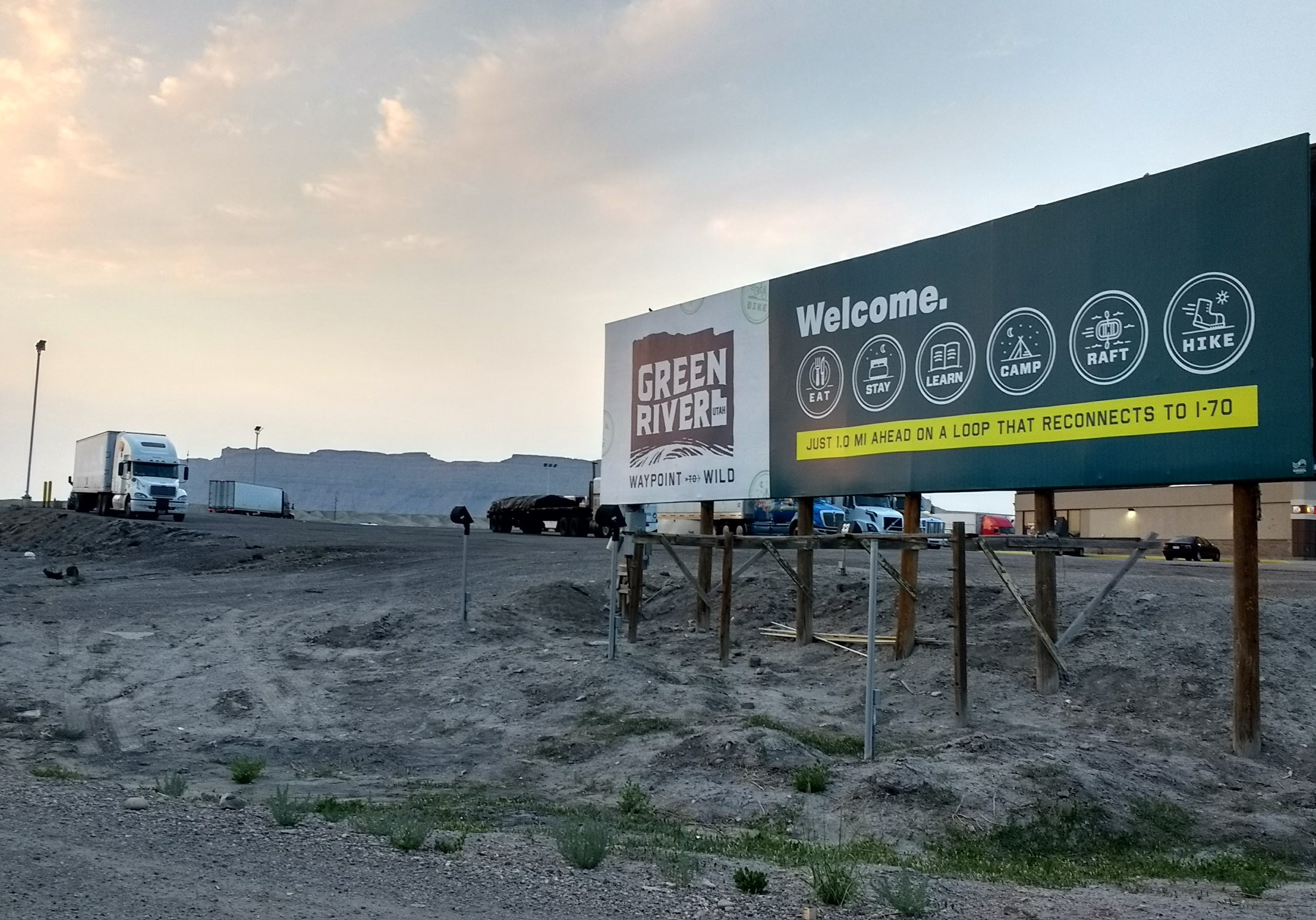 HUB also created new billboards for the interstate and the west exit to attract travellers to the heart of town