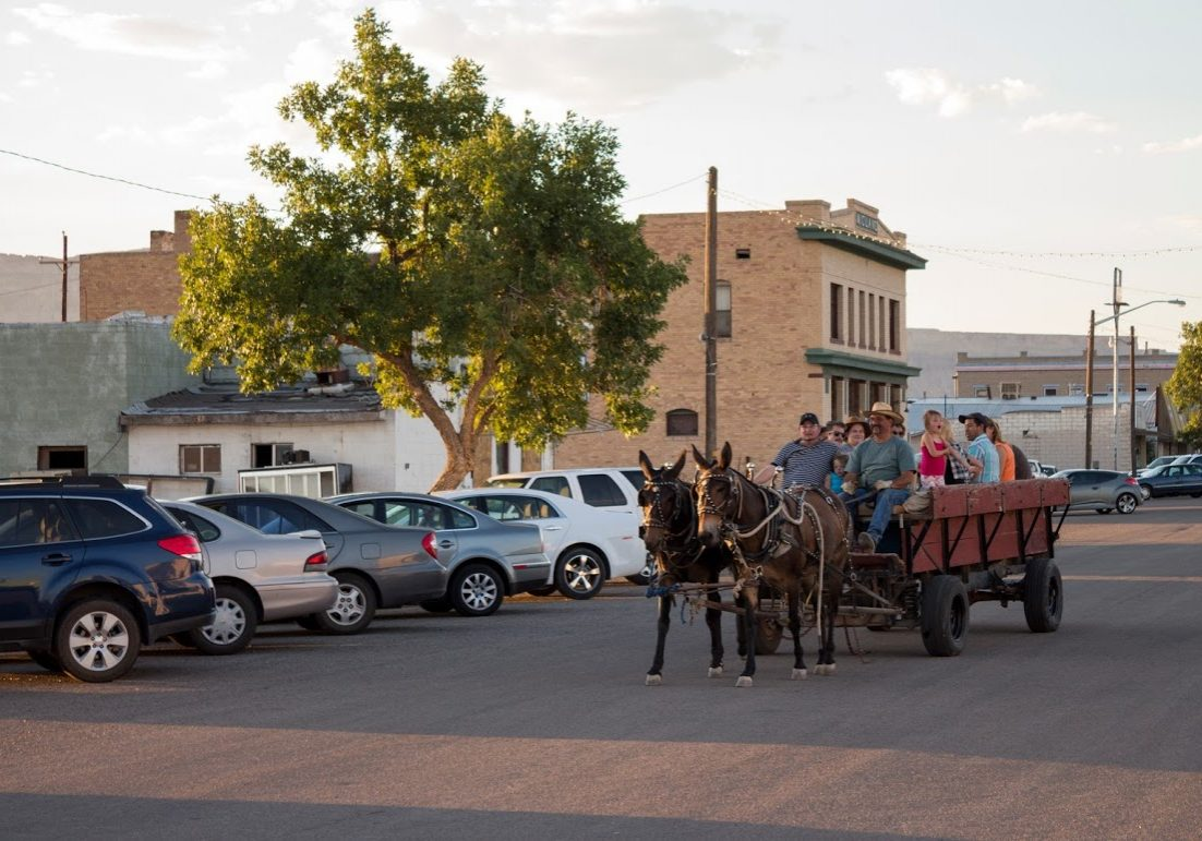 To get a different view of downtown, we took a few community members on a mule ride through town to discuss their vision for downtown